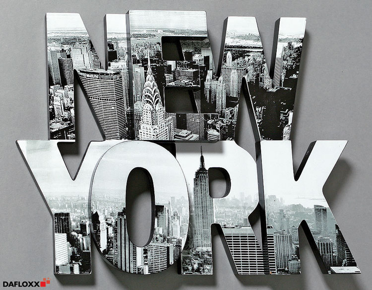 schriftzug new york 40x30cm bild buchstaben manhattan amerika skyline wandtattoo ebay. Black Bedroom Furniture Sets. Home Design Ideas