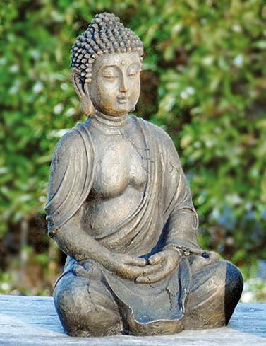 Genial buda escultura 30cm altura resistente a la for Estatuas jardin