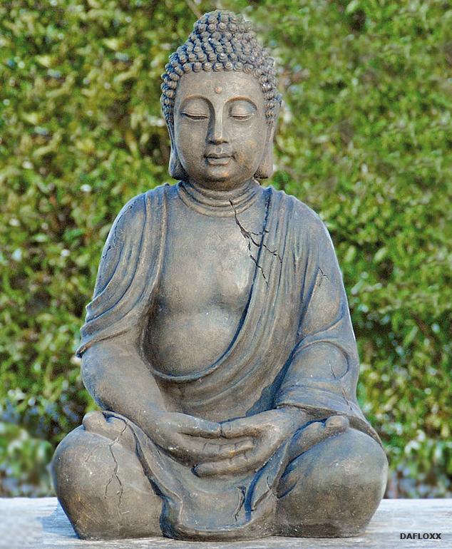 Geniale Buddha Skulptur 50cm H He Wetterfest Feng Shui