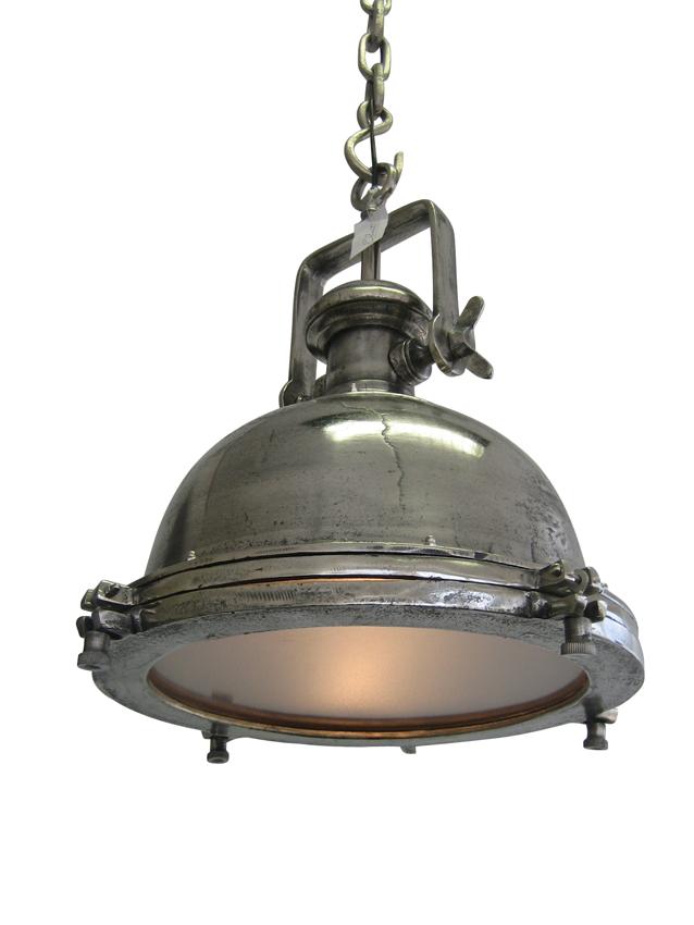 G nial plafonnier mirjam industrie rond usine argent nickel gris lampe ebay - Lampe de chevet noir et argent ...