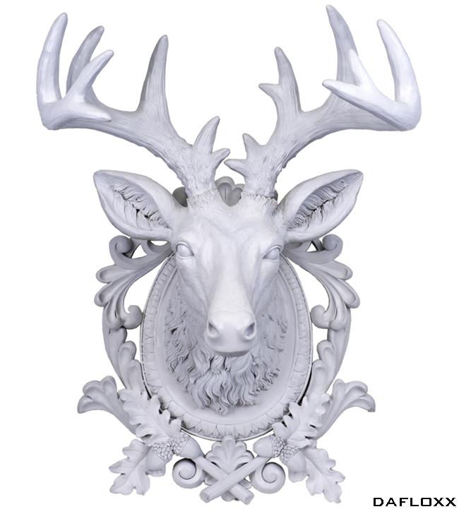 Cabeza Decorativa Ciervo Blanco