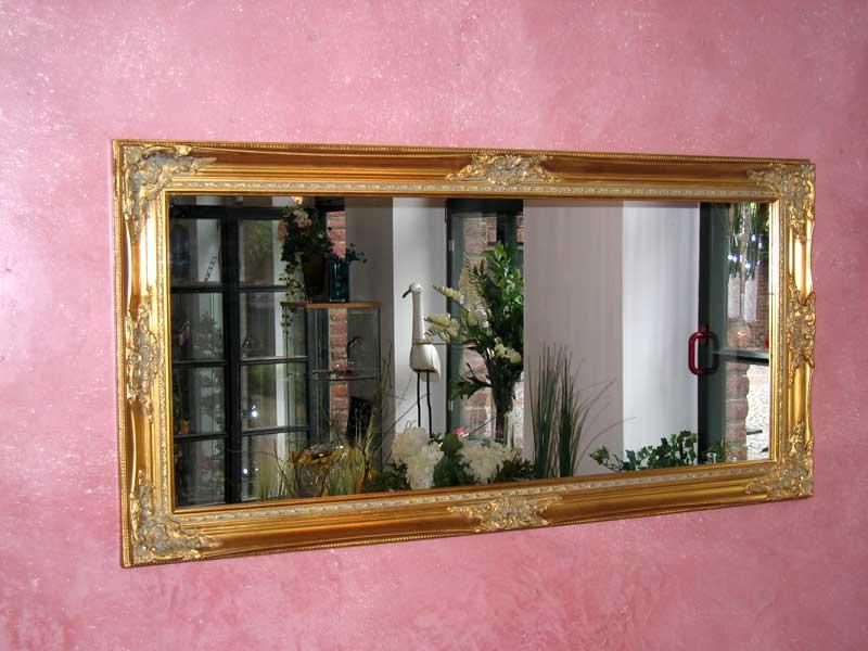 hochwertiger wandspiegel in gold 120x60cm modell barock spiegel barockspiegel. Black Bedroom Furniture Sets. Home Design Ideas