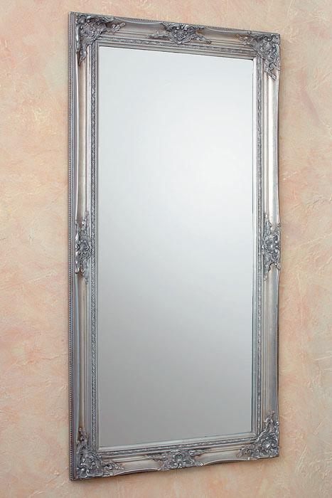 hochwertiger wandspiegel in silber modell barock 120x60cm spiegel barockspiegel ebay. Black Bedroom Furniture Sets. Home Design Ideas