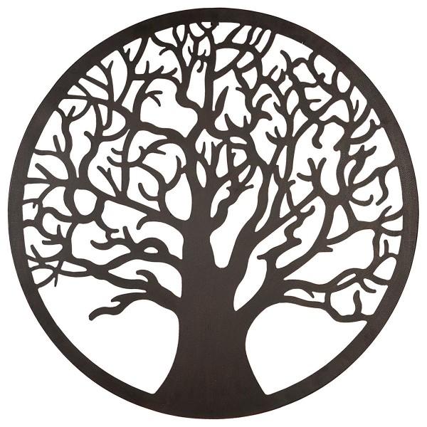 Wandobjekt Baum 80cm Braun rund Gilde Wanddeko Dekoration Bild Wanddeko