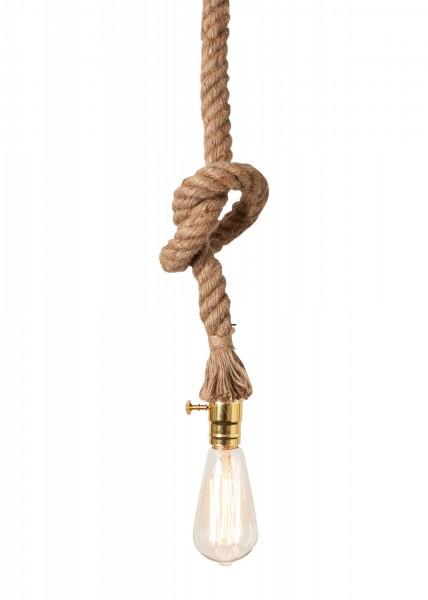 Hängelampe Seil incl. Leuchtmittel 100cm E27 60 Watt Lampe Deckenlampe Tau