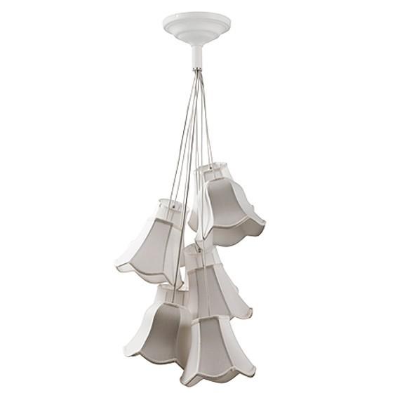 ZUIVER DECKENLAMPE GRANNY IN WEISS 9 SCHIRME RETRO STYLE LAMPE HÄNGELAMPE