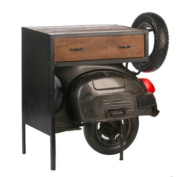 Geniale Kommode Roller Casablanca 90cm Metall Regal Beistelltisch Tisch Regal Vespa Motorrad