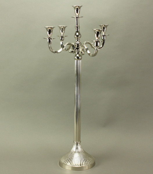 Kerzenleuchter Adlon 75cm 5 flammig Silber vernickelt Kerzenständer