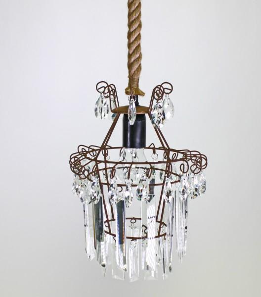 Eleganter Kronleuchter Chalet Seil Tau Lampe Kristall Deckenlampe Deckenleuchte