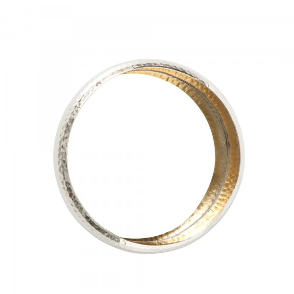Wandspiegel Menna Rund Aluminium Alu Gold Silber D43cm Spiegel Edel