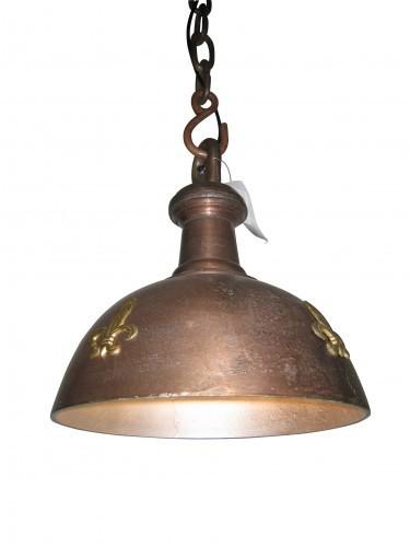 Deckenlampe Vintage Industrie 35cm Kupfer Ornamente Lampe Industrielampe