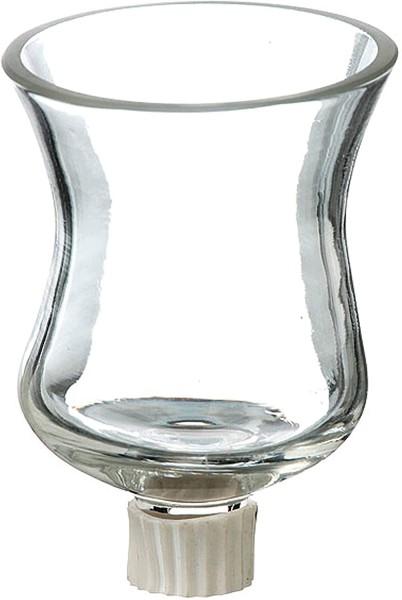 Teelichtaufsatz für Kerzenleuchter 9cm Glas Windlichtaufsatz Teelichthalter
