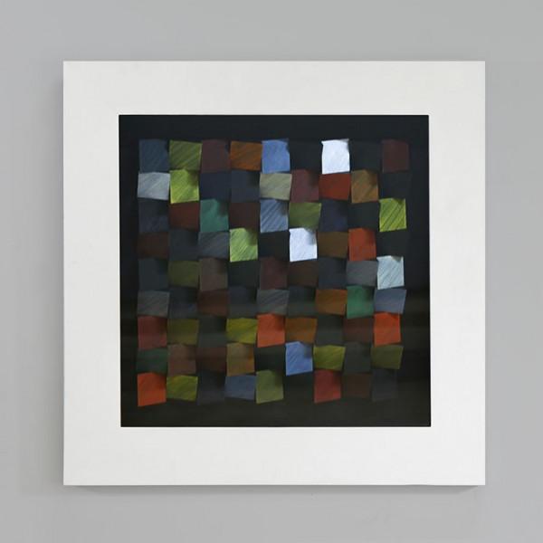 Edles Wandbild Color Blocks 60 x 60cm von Casablanca Silber Glas Würfel plastisch 3D