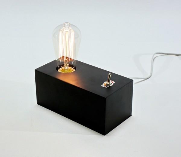 Geniale Tischleuchte Edison Kippschalter Schwarz inkl Birne Tischlampe Lampe