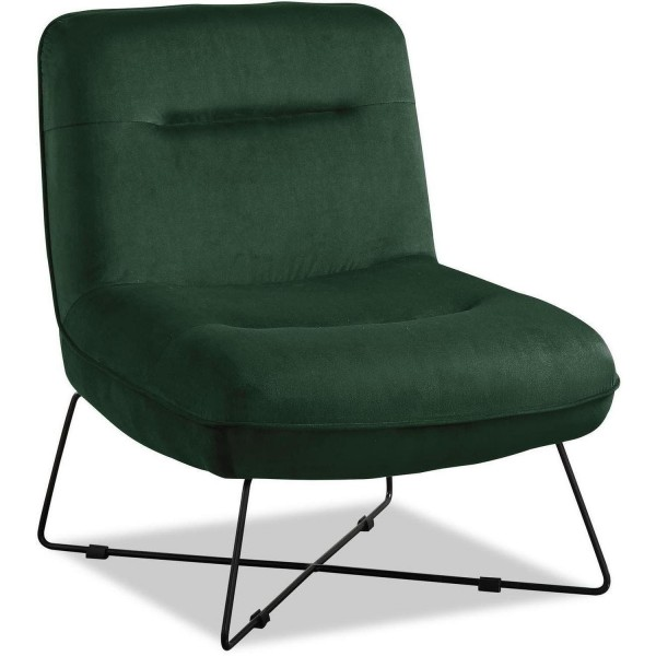 Sessel Grün Samt Clubsessel Loungesessel Samtsessel Stuhl
