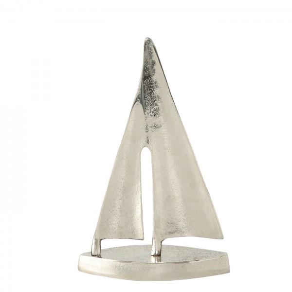 Edles XL Segelboot Modell Silber 45cm Boot Raw Nickel Schiff Aluminium