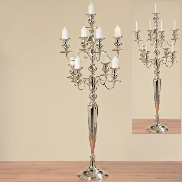Riesiger massiver Kerzenleuchter Silber 188 x 77cm 23 KG Kerzenständer Antik Barock