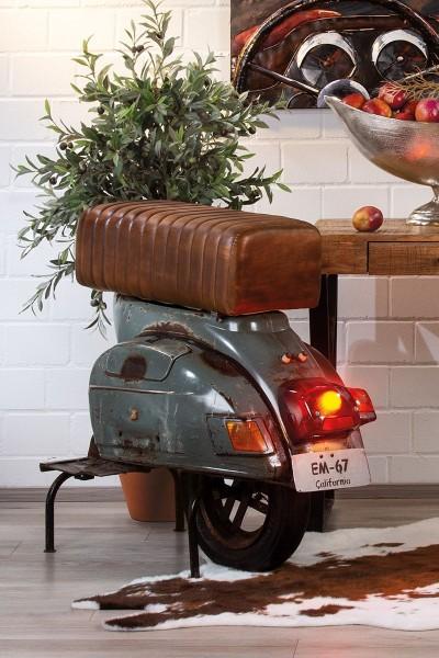 Sitzbank Roller Casablanca 89cm Metall Bank Stuhl Sessel Hocker Vespa Motorrad