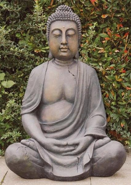 GIGANTISCHE BUDDHA SKULPTUR 102cm HÖHE FIGUR MODELL FENG SHUI STATUE NEU