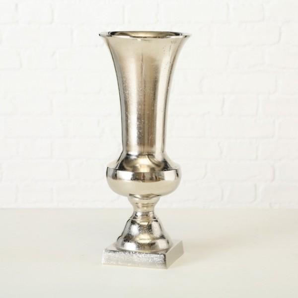 Edle Vase Flavio 58cm Aluminium Amphore Silber Tischvase Alu Dekovase