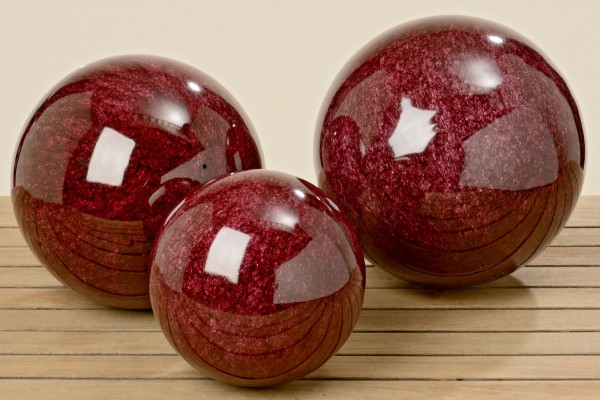 Gartenkugel Rot 25 cm aus Edelstahl Kugel Dekokugel Dekorationskugel