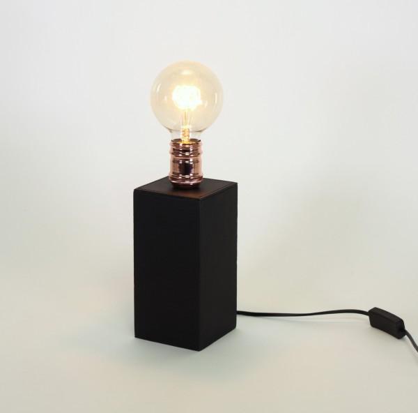 Edle Tischleuchte Edison Kippschalter Kupfer Schwarz inkl Birne Tischlampe Lampe