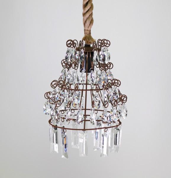 Edler Kronleuchter Chalet Seil Tau Kristall Lampe Deckenlampe Deckenleuchte