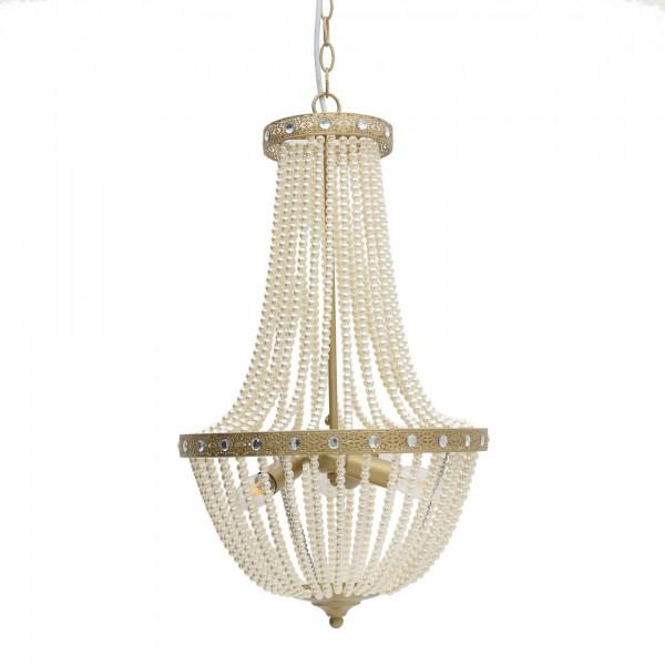 Edler Perlen Kronleuchter Gold Kristall Deckenlampe Korbleuchter Lampe Kristallleuchter