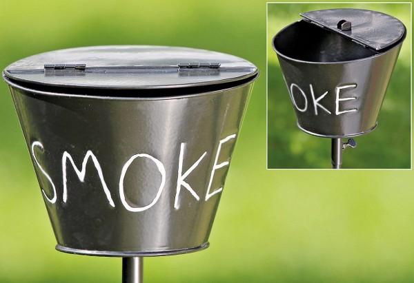 Aschenbecher Stab Schwarz Eisen 110cm Smoke Garten Stock Gartenstab