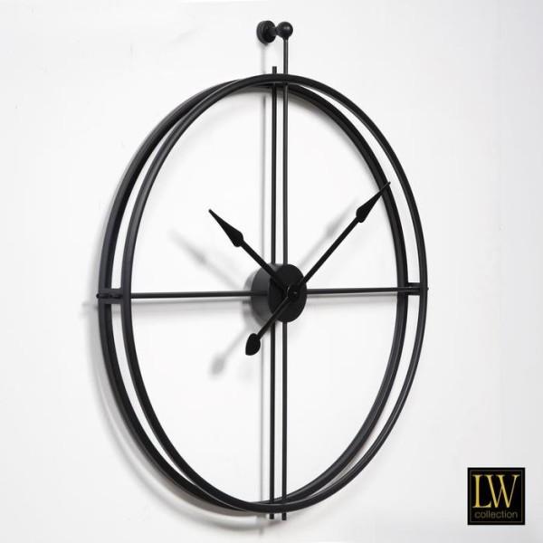 XL große Wanduhr 80cm Alberto Schwarz Metall Uhr Wand