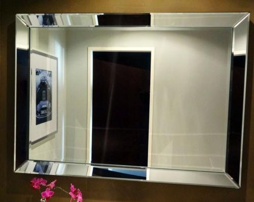 Genialer Wandspiegel 80 x 60cm Spiegelrahmen von Colmore Spiegel Glasrahmen