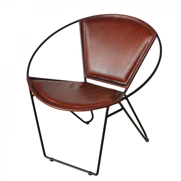 Edler Sessel Jelpa Braun Leder Stuhl Design Loungesessel Wohnzimmerstuhl