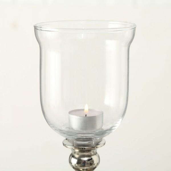 XXL Teelichthalter 15cm für Kerzenleuchter Glas Windlichtaufsatz Teelichtaufsatz