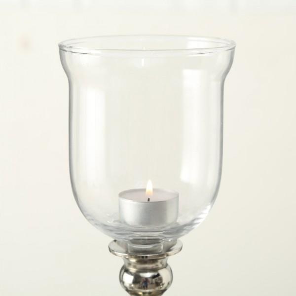 5x XXL Teelichtaufsatz Kerzenleuchter 15cm Glas Windlichtaufsatz Teelichthalter