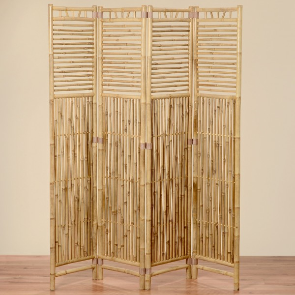 Paravent Bambus180cm Modell Forest Beige Braun Holz Raumteiler