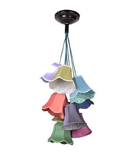 ZUIVER DECKENLAMPE GRANNY BUNT 9 SCHIRME RETRO-STYLE LAMPE