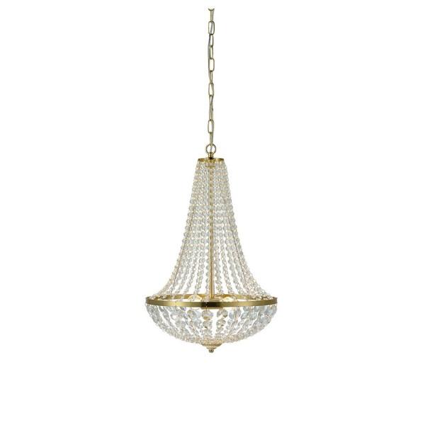Edler Kronleuchter Kristall Gold Hängelampe Korblüster Deckenlampe