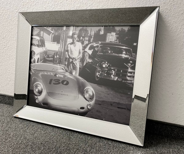 Bild Spiegelrahmen James Dean Porsche Colmore 60x50cm Wandbild Spiegel Gemälde