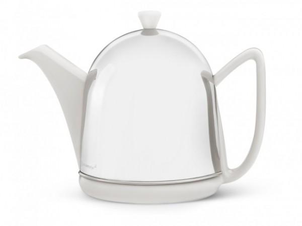 Originale Bredemeijer Teekanne Cosy Manto Weiß 1 Liter 1510W Kaffeekanne Neu 1a Ware