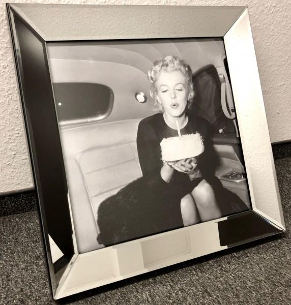 Edles Bild Spiegelrahmen Marilyn Monroe Colmore 50x50cm Spiegel Rahmen Gemälde