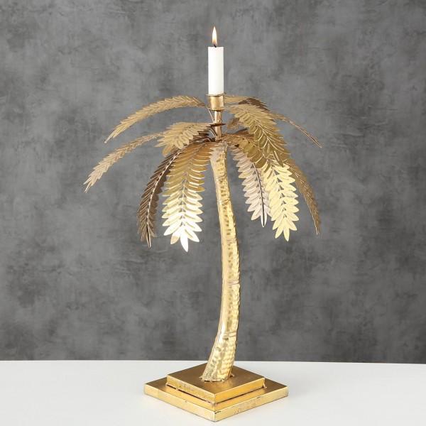 Kerzenständer Kerzenleuchter Kerzenhalter Goldene Palme 48cm Hoch Eisen