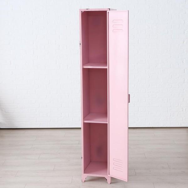 Genialer Spind Schrank Pink Umkleide Schränkchen Metall Rosa Regal Neu