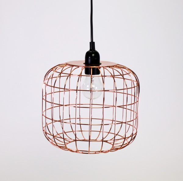 Deckenlampe Manhattan Kupfer Gitter Käfig Hängelampe Lampe Deckenleuchte Korbleuchter