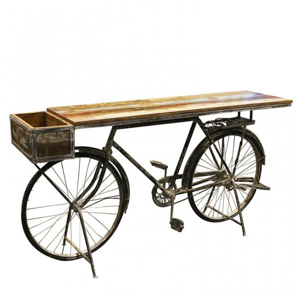 Fahrrad Tisch Regal Casablanca 182cm Metall Sideboard Bar Bike