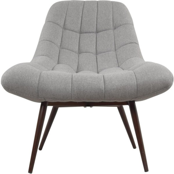 Gesteppter Sessel Grau Stoff Clubsessel Loungesessel Stoffsessel Stuhl