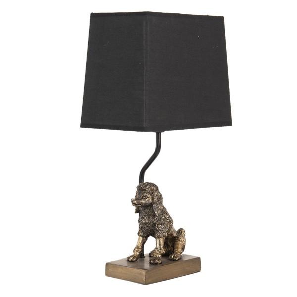 Tischlampe Pudel Gold Hund Lampe Schwarz Hund Tischleuchte