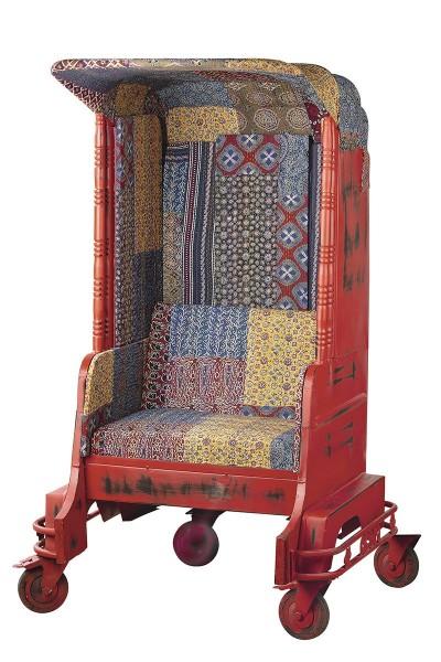 Genialer Sessel Tuk Tuk Einsitzer Casablanca Rot Autorikscha Sofa Stuhl TukTuk