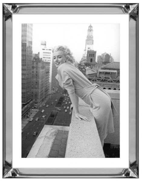 Bild Spiegelrahmen Marilyn Monroe 90x70cm Top of the World Colmore Wandbild Spiegel