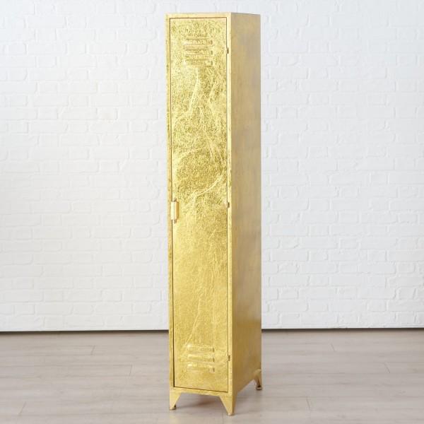 Genialer Spind Schrank Gold Umkleide Schränkchen Metall Shabby Regal Neu