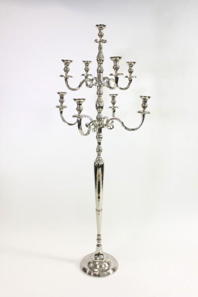 schwerer xxl kerzenleuchter silber 180cm candelaber kerzenst nder barock antik neunflammig. Black Bedroom Furniture Sets. Home Design Ideas